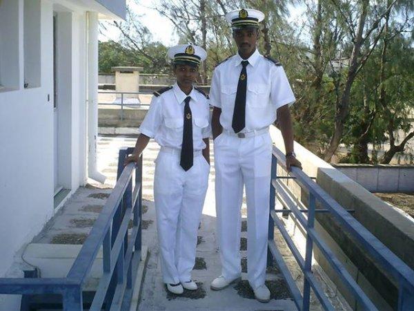 Mariama, la plus jeune et première des officiers marins!